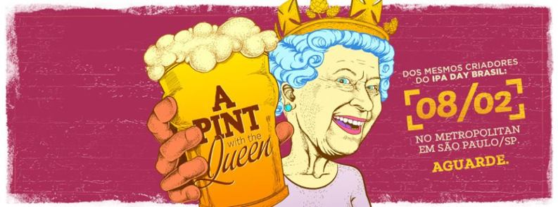 A pint with the Queen